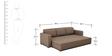 Morris Three Seater Sofa cum Bed in Brown Colour by ARRA