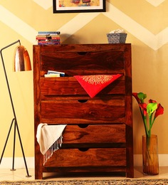 Tulsa Solid Wood Chest Of Drawers in Provincial Teak Finish by Woodsworth