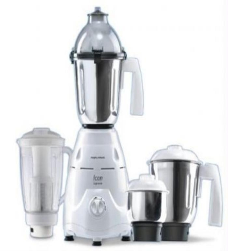Morphy Richards Icon 4 Jars Supreme with Flexi Jar Mixer Grinder  (White)
