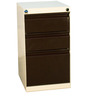 Mobile Multipurpose Pedestal with Drawers in Black & White Colour by Delite Kom