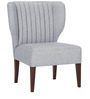 Modern Wing Back Chair with Deep Stitch Details by Afydecor