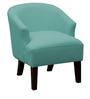 Modern Accent Chair in Blue Color by Afydecor