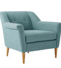 Modern Accent Chair with Loose Cushion Seat in Blue Color by Afydecor
