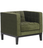 Modern Accent Chair with Straight Back and Track Arms