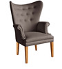 Modern Chair with a Winged Back Style in Grey Colour by Afydecor