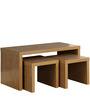 Modern Coffee Table with Two Withdrawable Wooden Stools by AfyDecor