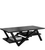 Modern Coffee Table with Zig Zag Legs in Wenge Colour by AfyDecor
