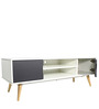 Modern Entertainment Unit in White Color by Afydecor