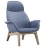 Modern High Back Contour Accent Chair in Indigo Color by Afydecor