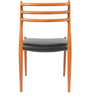 Modern Ladder Back Dining Chair with Tapered Legs in Black Colour by Afydecor