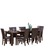 Modern Six Seater Dining Set with Rich Leatherette Chairs by Afydecor