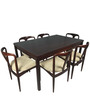Modern Six Seater Dining Set with Round Tapered Legs by Afydecor