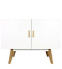 Modern Sleek and Chic Cabinet with Multiple Uses in White Colour by Afydecor