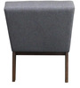 Modern Styled Accent Chair with Grey Fabric Upholstered Cushions by Afydecor