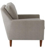 Modern Styled Accent Chair with Slanted Back and Track Arms
