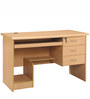 Modular Laptop cum Study Table with Three Drawers in Maple Finish by Pindia