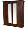 Mondo Solidwood Four Door Wardrobe in Brown Finish by HomeTown