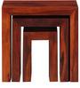 Olney Sheesham Wood Set of Tables in Honey Oak Finish by Woodsworth