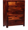 Tulsa Solid Wood Chest of Drawers in Honey Oak Finish by Woodsworth