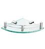 KRM Decor Metallic Brass & Glass Moonstone Bathroom Shelf