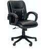 Morris Ergonomic Medium Back Chair in Black Color By VJ Interior