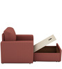 Morris One Seater Sofa Lounge in Cherry Colour by ARRA