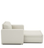 Morris One Seater Sofa Lounge in Pearl White Colour by ARRA