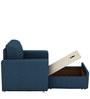 Morris One Seater Sofa Lounge in Royal Blue Colour by ARRA