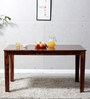 Lyndon Six Seater Dining Table in Provincial Teak Finish by Woodsworth