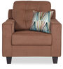 Moscow Grandeur One Seater Sofa in Brown Colour by Urban Living
