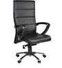 Moscow High Back Office Chair in Black Colour by Chromecraft