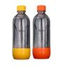 Mr. Butler 1 Ltr Orange & Yellow PET Bottle - Set of 2
