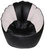 Muddha XXXL-Size Bean Bag with Beans in Black N White Colour by Sattva