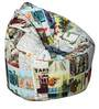 Muddha Sofa Bean Bag Cover without Beans with Travel Print by Sattva