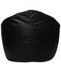 Muddha XXXL Sofa Bean Bag with Beans in Black Colour by Sattva