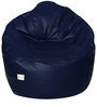 Muddha XXXL Sofa Bean Bag with Beans in Navy Blue Colour by Sattva