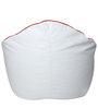 Muddha XXXL Sofa Bean Bag with Beans in White Colour by Sattva