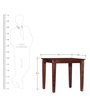 Mukilteo Four Seater Dining Set in Provincial Teak Finish by Woodsworth