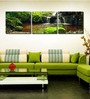 Multiple Frames Mountains Forest Water Fall like Painting - 3 Frames