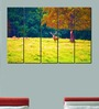 Multiple Frames Printed Deer in the forest  Art Panels like Painting - 5 Frames