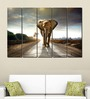 Multiple Frames Printed Elephant on the road Art Panels like Painting - 5 Frames