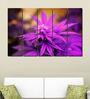 Multiple Frames Printed Purple Leaves Panels like Painting - 5 Frames