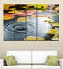 Multiple Frames Printed Water Drops in the river Art Panels like Painting - 5 Frames