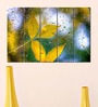 Multiple Frames Printed Water Drops on yellow leaves Panels like Painting - 5 Frames