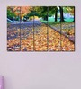 Multiple Frames Printed Yellow Leaves on the road Art Panels like Painting - 5 Frames