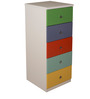 Multi-Utility Five Drawer Chest in Multi-Colour by Child Space