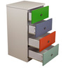 Multi-Utility Four Drawer Chest in Multi-Colour by Child Space