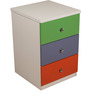 Multi-Utility Three Drawer Chest in Multi-Colour by Child Space