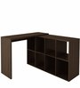 Mura Study Desk with Book Shelf in Tobacco Finish by Mintwud