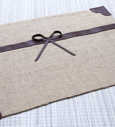 My Gift Booth Beige Jute Table Mat - Set Of 6
